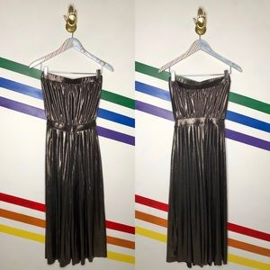 NEW Urban Outfitters strapless metallic jumpsuit